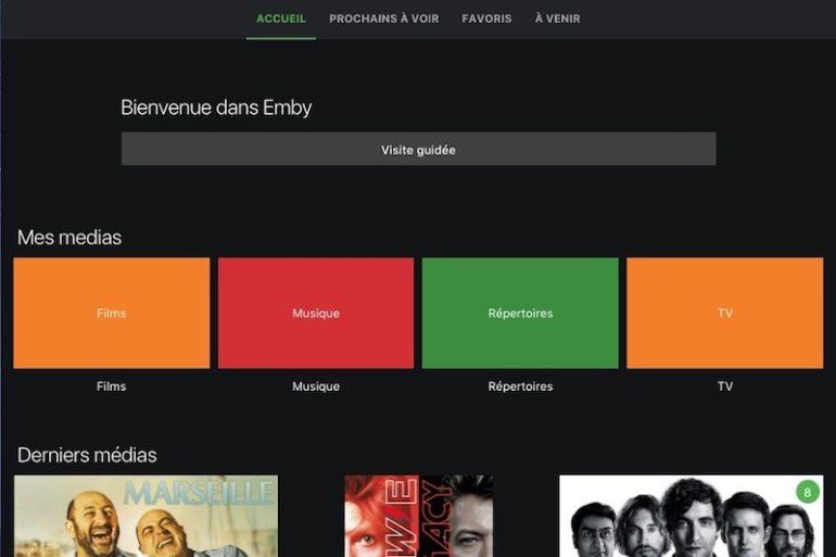 interface web emby 770x513 - Emby, nouveau concurrent de Plex
