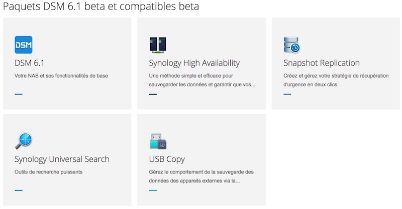 paquets synology - NAS - Synology lance DSM 6.1 Bêta