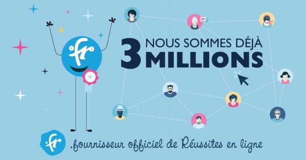 3 millions fr - 3 000 000 de nom de domaine .fr
