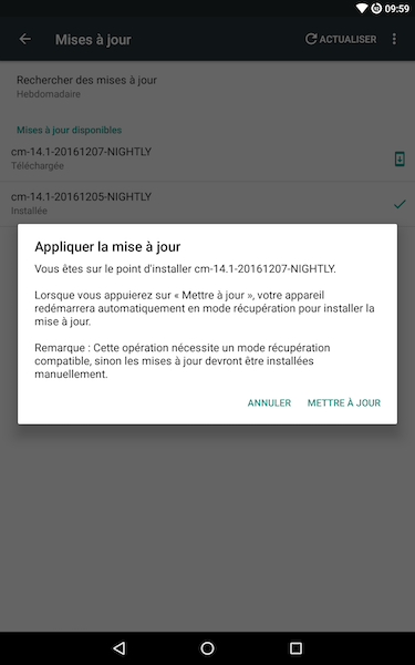 mise a jour lg g pad 8 1 - Android 7.1 : Cyanogenmod 14.1 et ma tablette LG G Pad 8.3