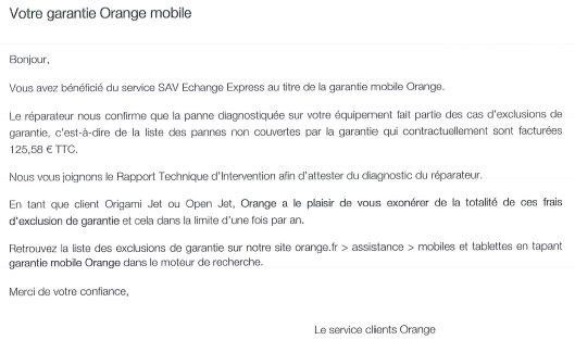 Retour exp SAV Orange Z1C 5 - Retour d'expérience SAV Orange Mobile