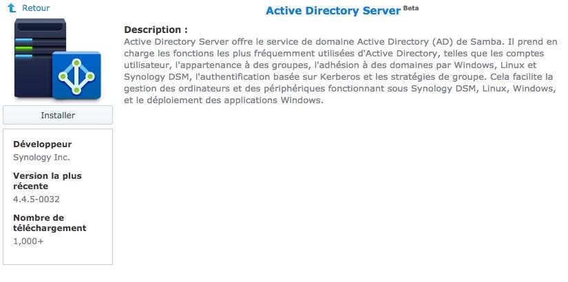 active directory server synology - Synology : DSM 6.1 disponible pour tous les NAS à partir DSx11