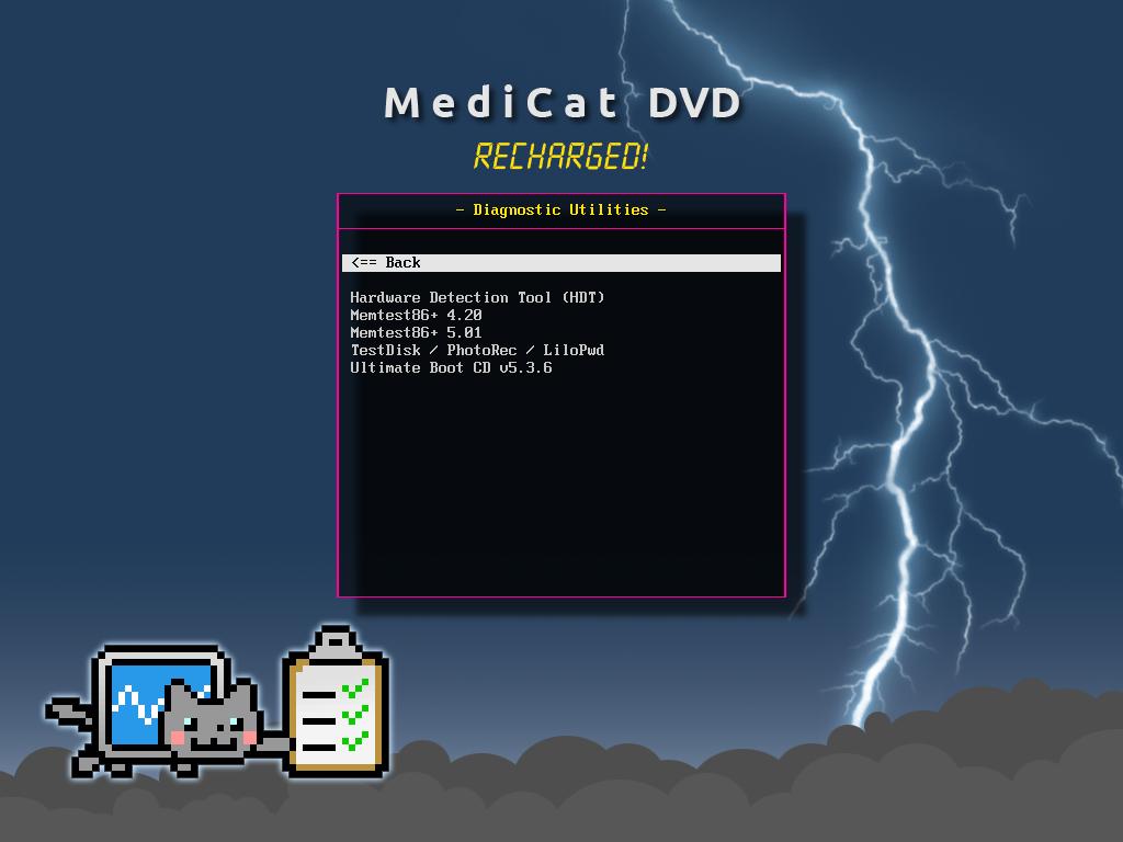 Diagnostics - Medicat DVD - dépannage facile sur Windows