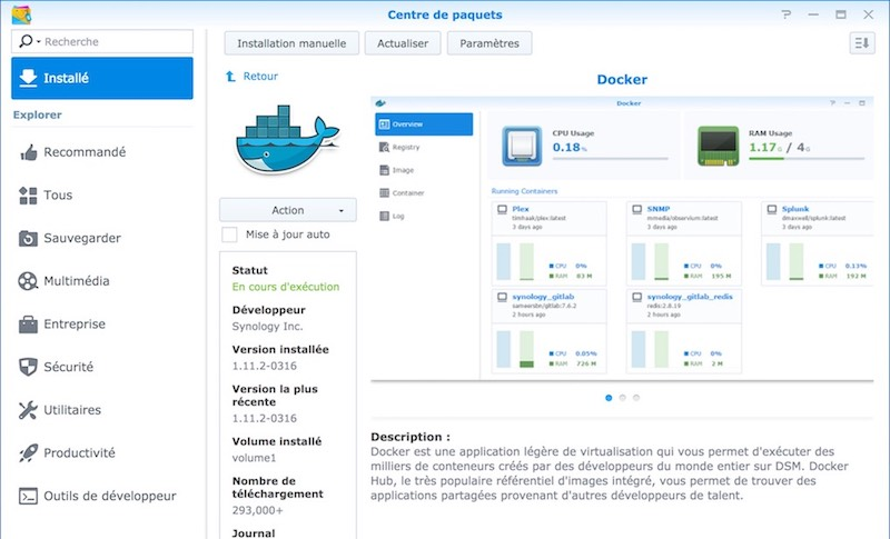 Docker Synology - 3 en 1 : CouchPotato, Docker et NAS