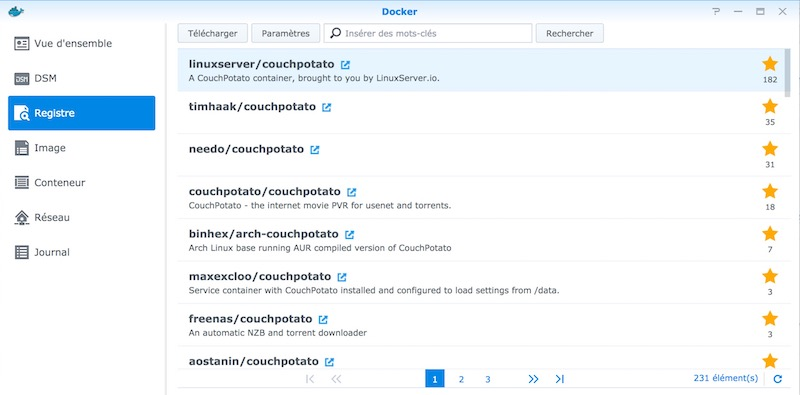 Docker couchpotato - 3 en 1 : CouchPotato, Docker et NAS