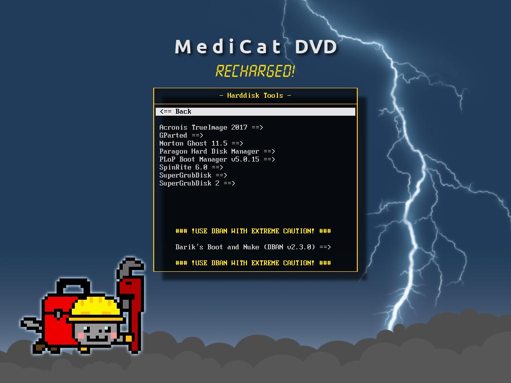Harddisk Tools - Medicat DVD - dépannage facile sur Windows