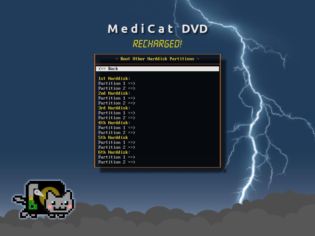 Partitions - Medicat DVD - dépannage facile sur Windows