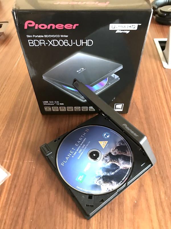 Pioneer BDR XD06J UHD - PowerDVD 17 - Vidéos en HDR, réalité virtuelle et...