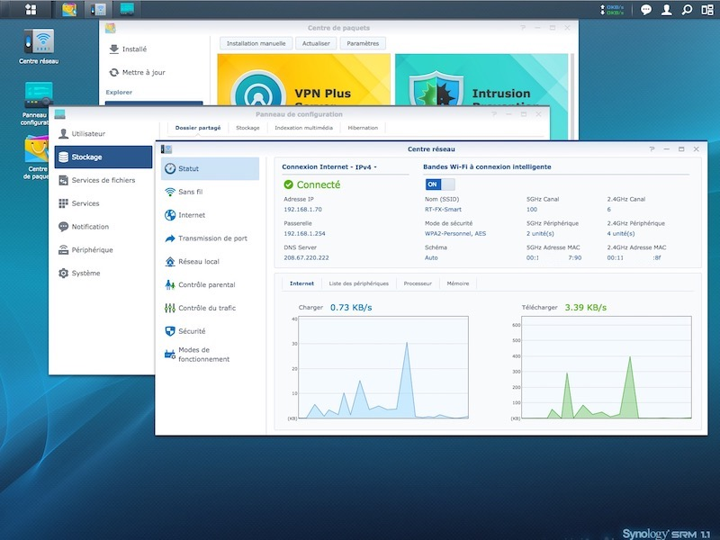 SRM 11 - Test du routeur Synology RT2600ac