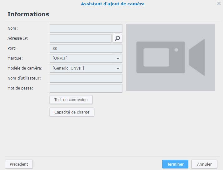 ajout camera recherche - Synology - Installation et configuration d'une caméra IP sous DSM Surveillance Station