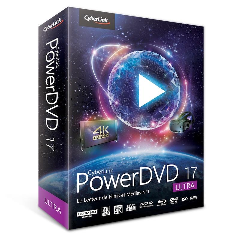 box PDVD17 ultra fra l - PowerDVD 17 - Vidéos en HDR, réalité virtuelle et...