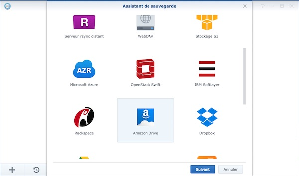 hyper backup - NAS Synology et Amazon Drive