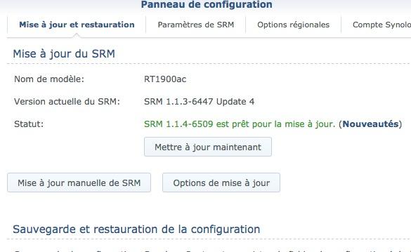 mise a jour SRM - Synology met à jour ses routeurs vers SRM 1.1.4