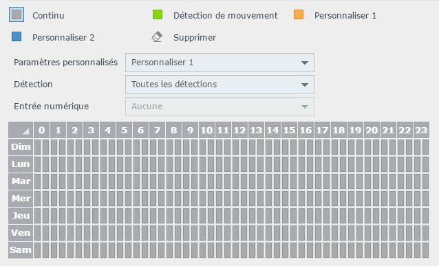 modifier parametres planification - Synology - Installation et configuration d'une caméra IP sous DSM Surveillance Station