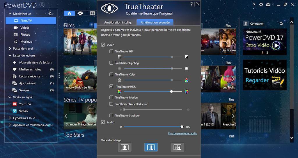 pc mode tt - PowerDVD 17 - Vidéos en HDR, réalité virtuelle et...