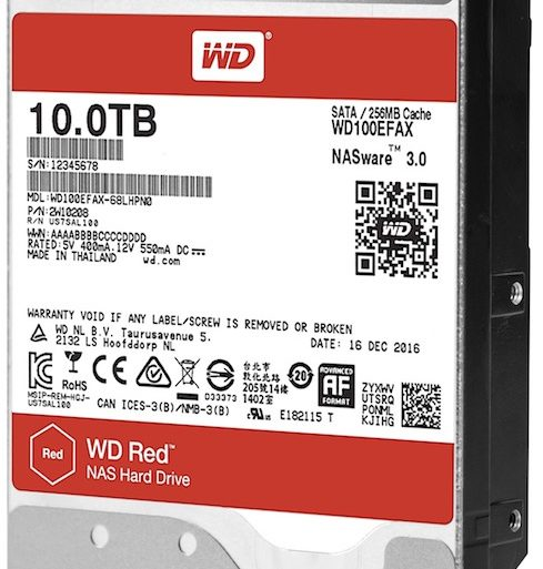WD 10 To 489x513 - WD Red et WD Red Pro 10 To à base d'hélium arrivent...