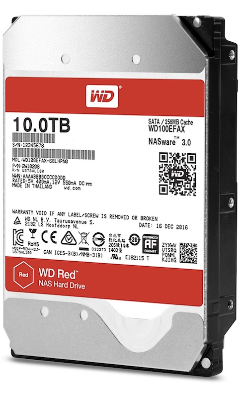 WD 10 To - WD Red et WD Red Pro 10 To à base d'hélium arrivent...