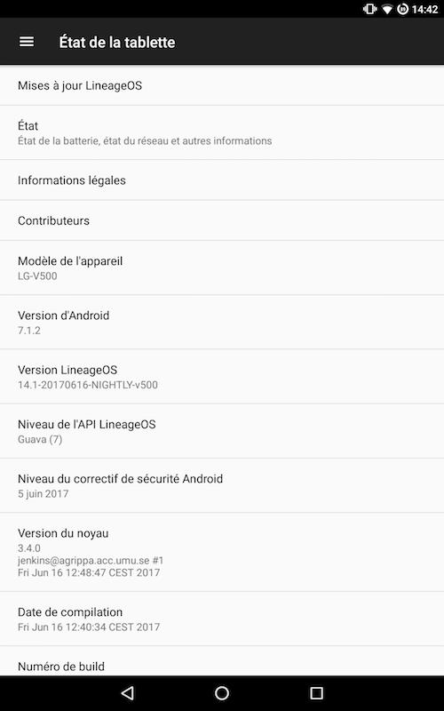 IlneageOS 712 - Android - LineageOS 14.1 s'améliore encore...