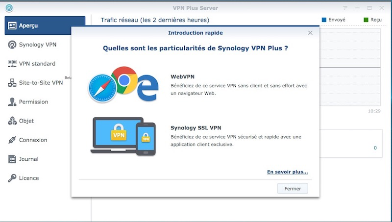 VPN Plus Server - Test du routeur Synology RT2600ac