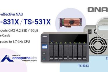 TS 531X TS 831X 370x247 - QNAP lance 1 nouveau NAS : TS-831X (quad-core, 10GbE et emplacement PCIe)