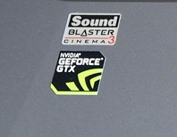 geforce gtx sound blaster cinema 3 - Test du portable gaming Thunderobot ST-Plus