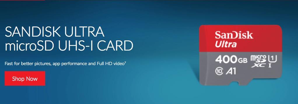 sandisk 400Go - SanDisk annonce une carte microSD de 400 Go certifiée A1... à 250€ !