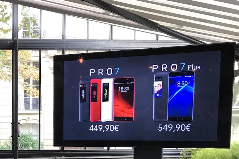 tarifs meizu - Meizu Pro 7 et Pro 7 Plus
