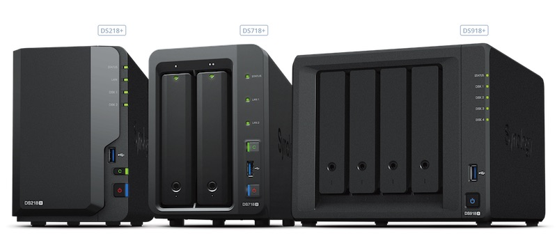 DS918pls DS718plus DS218plus - NAS - Synology DS218+ DS718+ et DS918+ (Intel J3355 & J3455, RAM extensible, H.265...)