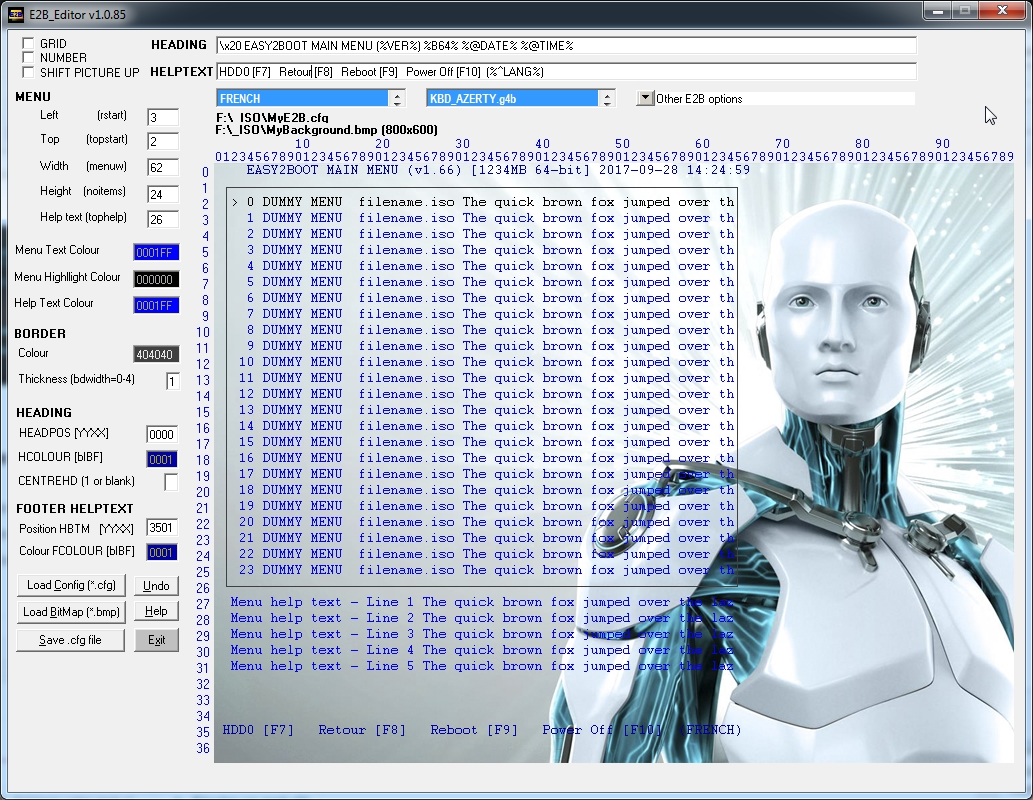 E2B Editor1 - Easy2Boot: Créez votre clé USB multi ISO