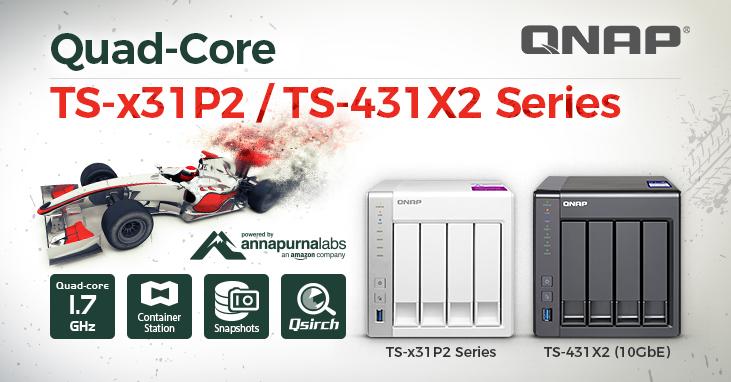QNAP TS x31P2 TS 431X2 - NAS - QNAP annonce la gamme TS-x31P2 et le TS-431X2