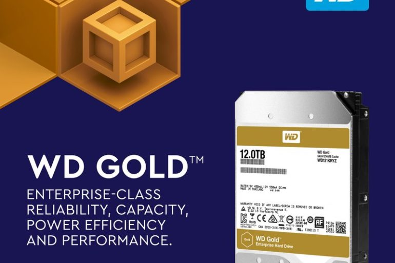 WD Gold 12To  770x513 - Western Digital lance un nouveau disque de 12 To (WD Gold)