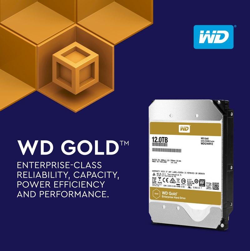 WD Gold 12To  - Western Digital lance un nouveau disque de 12 To (WD Gold)