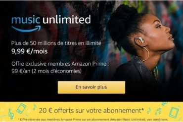 amazon music unlimited 370x247 - Amazon lance music unlimited à 9,99€/mois ou 14,99€/mois pour la famille