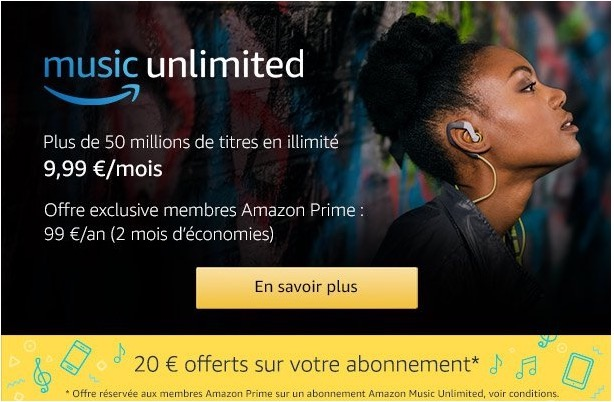 amazon music unlimited - Amazon lance music unlimited à 9,99€/mois ou 14,99€/mois pour la famille