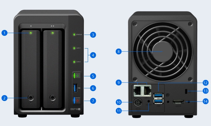 ds 718plus - NAS - Synology DS218+ DS718+ et DS918+ (Intel J3355 & J3455, RAM extensible, H.265...)