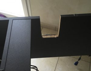 mon bureau 1home 300x233 - Support 2 écrans : Design et Commodité