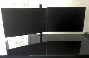 montage deuxieme ecran 300x195 - Support 2 écrans : Design et Commodité