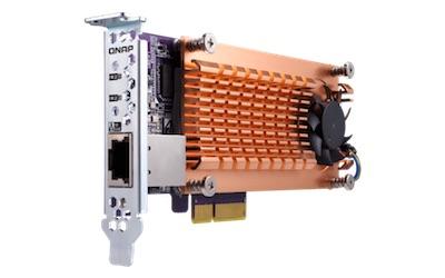 QNAP qm2 - NAS - QNAP lance officiellement le TS-453BT3 : quad core, 4 baies, Thunderbolt 3