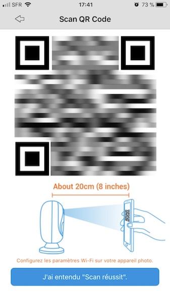 configuration wifi - Reolink Argus, test de la caméra IP sans fil