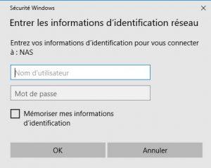 connexion3 300x239 - Ajouter son NAS comme lecteur réseau sur Windows