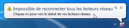 connexion w7 1 - Ajouter son NAS comme lecteur réseau sur Windows