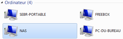 connexion w7 13 - Ajouter son NAS comme lecteur réseau sur Windows