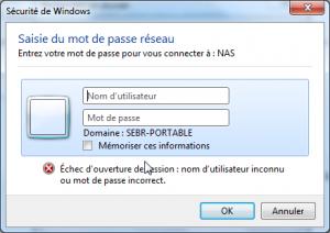 connexion w7 4 300x212 - Ajouter son NAS comme lecteur réseau sur Windows