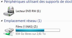 connexion w7 8 - Ajouter son NAS comme lecteur réseau sur Windows