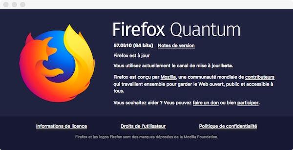firefox quantum 57b10 - Firefox Quantum (vie privée)