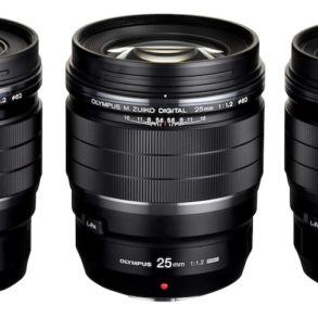 gamme 17 25 45 olympus 293x293 - Olympus lance 2 objectifs à focale fixe M.Zuiko F1.2 PRO 17 mm et  45mm