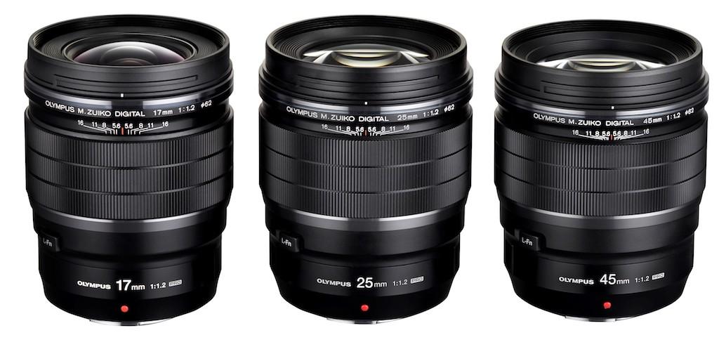 gamme 17 25 45 olympus - Olympus lance 2 objectifs à focale fixe M.Zuiko F1.2 PRO 17 mm et  45mm