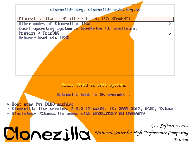 Clonezilla save2 - CloneZilla : Cloner votre PC sur un NAS en 9 étapes