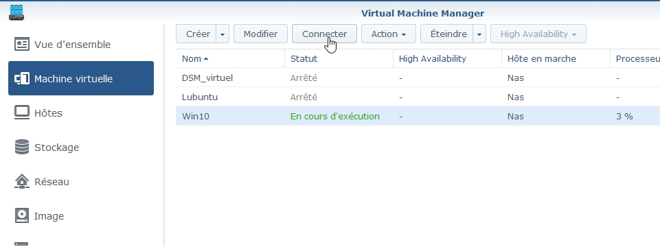 VMM Win10 15 - Synology : Virtual Machine Manager – Installation de Windows 10 [TUTO]