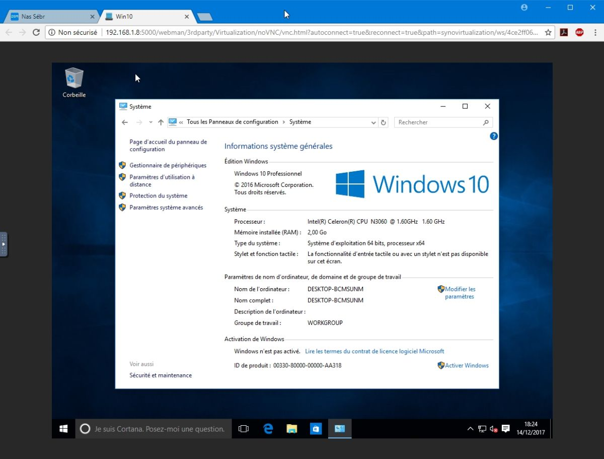 VMM Win10 16 - Synology : Virtual Machine Manager – Installation de Windows 10 [TUTO]